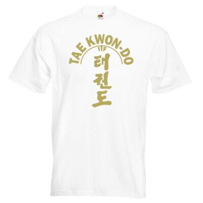 ITF Taekwondo T-shirt 21-gold-on-white