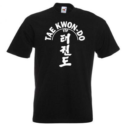 ITF Taekwondo T-shirt 21-white-on-black