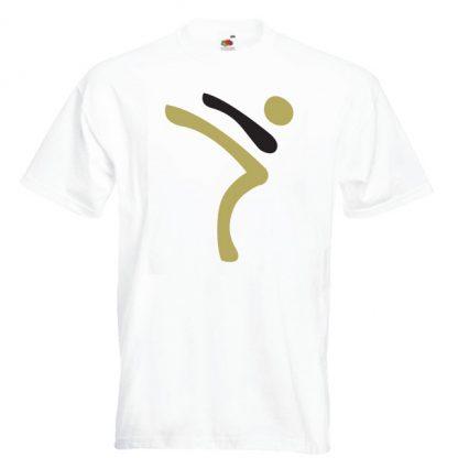 Kicking Man BIG Logo gold-and-black-on-WHITE-2R