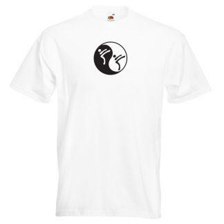 Yin Yang Martial Art T-Shirt-WHITE-7R