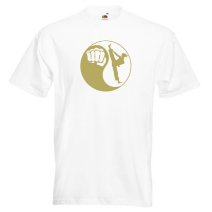 Yin-Yang-Womens-22F8-gold-on-white-shirt