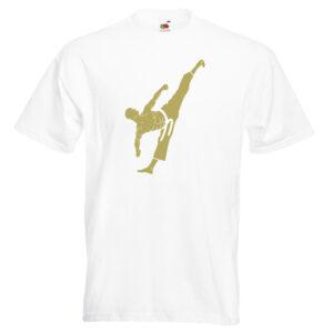 Martial Artist T-Shirt gold on white