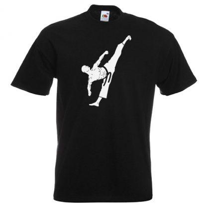 Martial Artist T-Shirt white on black