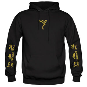 ITF-tkd-gold-on-black-hoodies-front