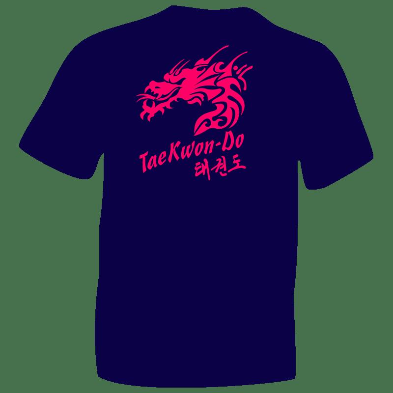 Fluorescent Pink Dragon T-Shirt